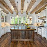 Custom rustic kitchen island
