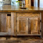 Nuristani carved panel on kitchen island