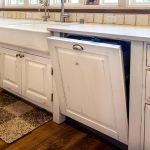 Wooden dishwasher panel detail