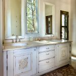 Installed custom bath vanity