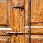 Antique hardware detail on Dutch door