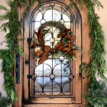 Arched front entry holiday