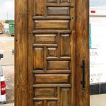 Barn sliding closet door with textured finish slider hardware
