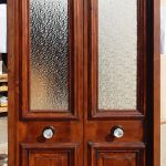 Doors with pressed obscure glass