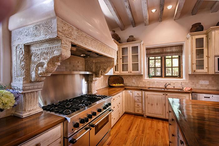 Stove hood in Santa Fe kitchen remodel