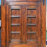 Custom barn sliding door with matte finish slider