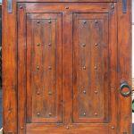 Barn sliding door with matte finish slider hardware