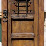 rustic door with speakeasy and notched corner deadbolt