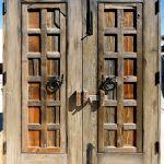 doors with cast iron footbolt and headbolt