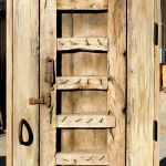 rustic door with antique hasp