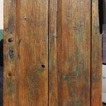 refurbished door with antique knob