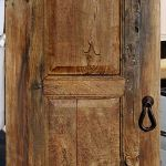 antique mesquite door with pear shaped pull