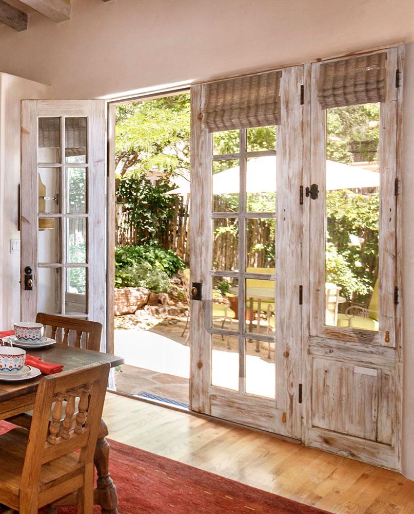 French doors in Santa Fe kitchen remodel