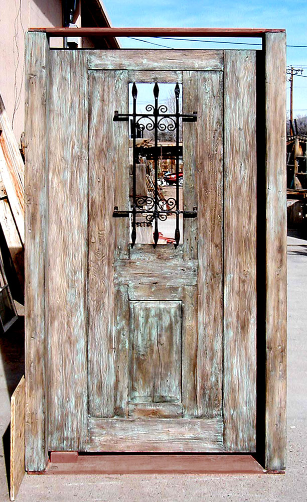 gate made with antique Mexican door