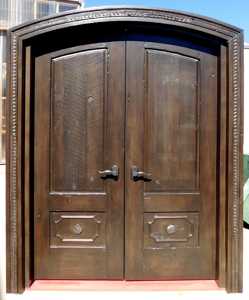 Double bedroom door in surround