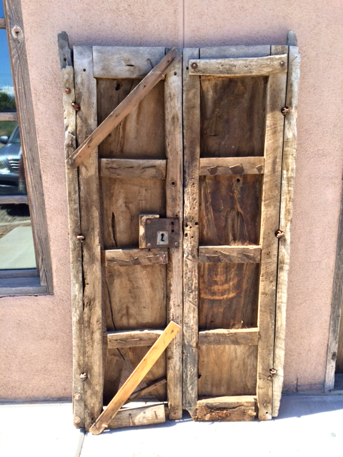Antique Mexican doors with key plate