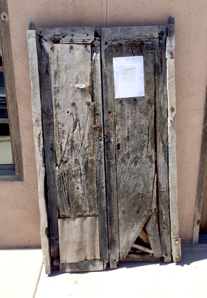 Antique Mexican doors used to make double gate