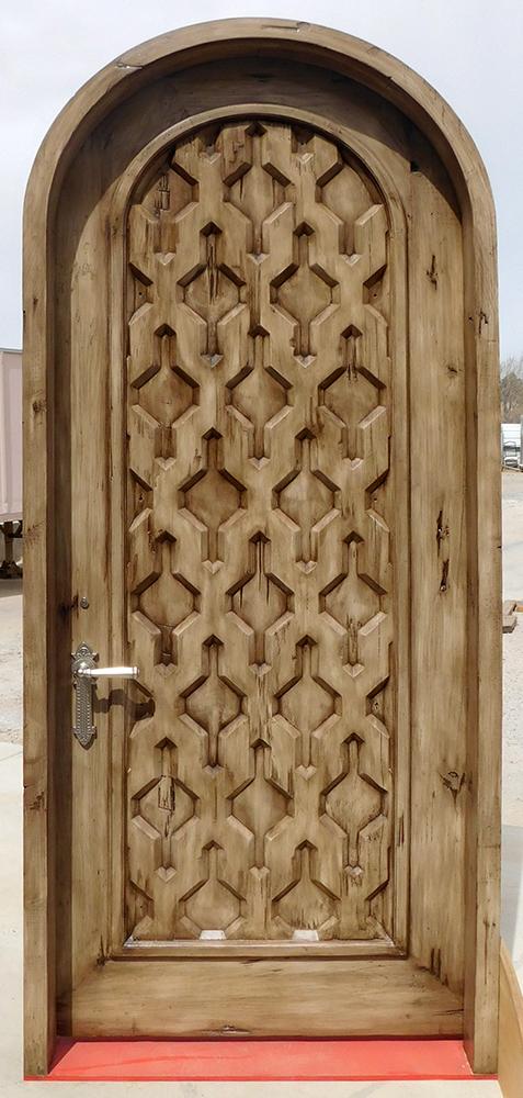 bedroom door with CNC carved panel