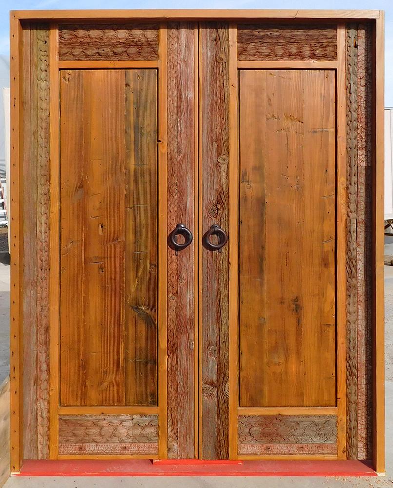 Custom bedroom door with inset carving