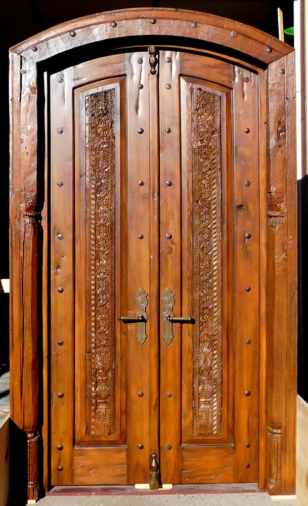 Custom bedroom door in surround