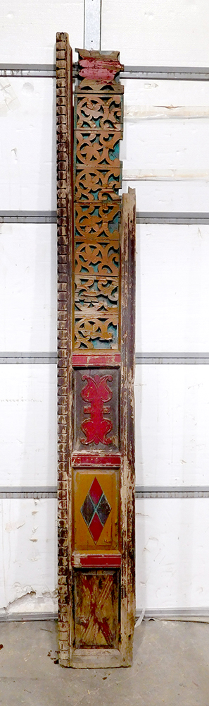 Antique carved panel used to make cream doors