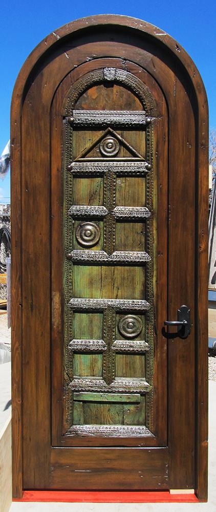 Custom bedroom door with antique door