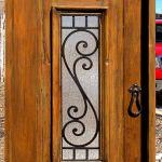 door with grillwork