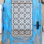 gate with grillwork