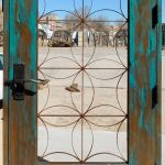 Gate with antique grillwork