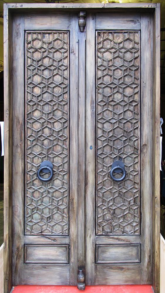 Custom bedroom door with astragal