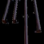 Custom iron bar foot rails