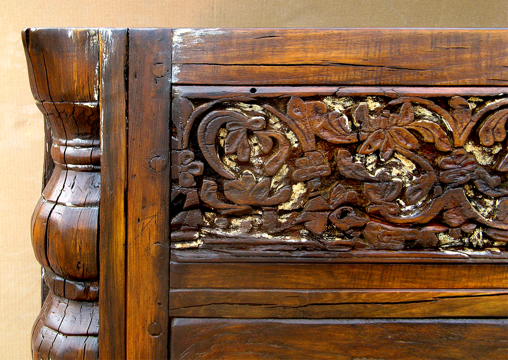 Detail of custom vanity