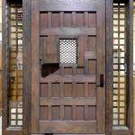 Back of rustic front door