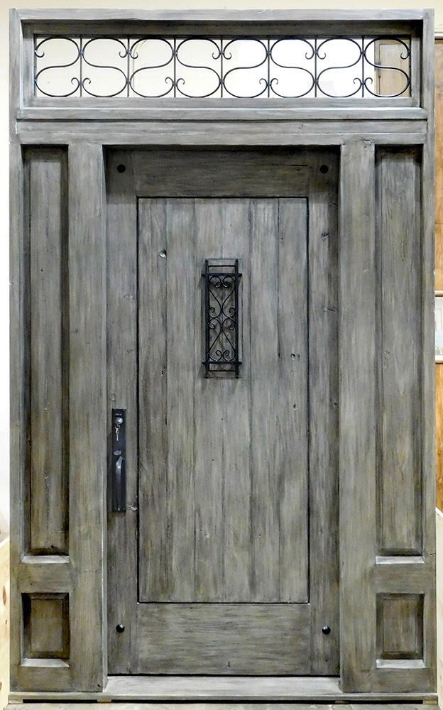 Entry door with grilled transom