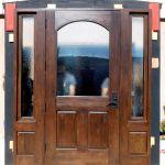 Back of door with territorial surround