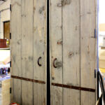 Back of doors before color enrichment