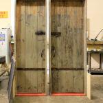 Front of doors before color enrichment