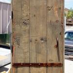 Back of garage door with new color