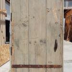 Back of garage door before new color
