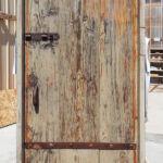 Front of garage door before new color