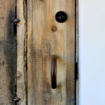 Handle and deadbolt on front entry