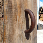 Handle of rustic front entry