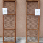 Salvaged grillwork used to make double gate