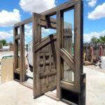 Detail of pivot door open