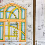 Drawing for front entry with transom