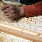 Hand carving door panels