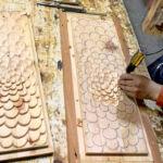 Hand carving closet door panels