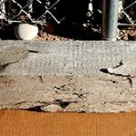 Lintel made from salvaged barn beam