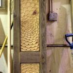 Doors in progress in the wood shop