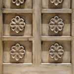 Carving design on Blanco Tacos doors